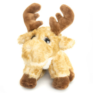 "7"" Plush Big Eyes Squatting Moose By Giftable World®"