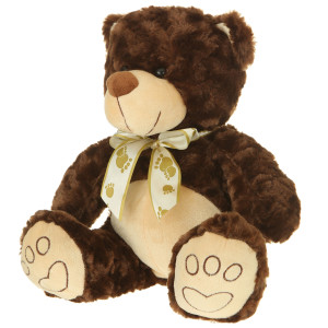 "13"" Plush Dark Brown Bear By Giftable World®"