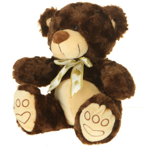 "7"" Plush Dark Brown Bear By Giftable World®"