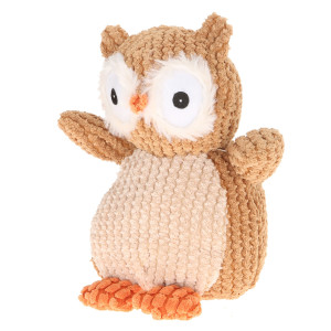 "9' Plush Brown Nice ""N"" Knitted Owl By Giftable World®"