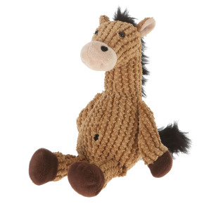 "9"" Plush Light Brown Nice ""N"" Knitted Horse By Giftable World®"