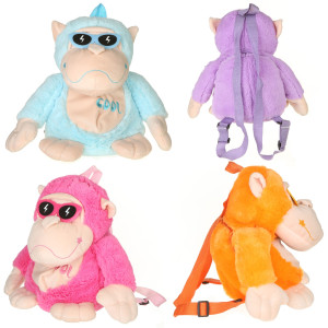 "11"" Assorted MONKEY W/ SUNGLASSES BACKPACK by Giftable World"