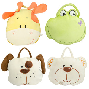 4 Assorted Animal Bags With Blankets By Giftable World®