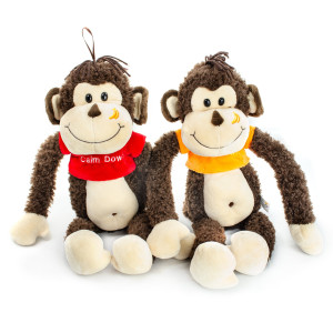 "12.5"" Assorted Monkey w/ Calm Down T-Shirt by Giftable World"