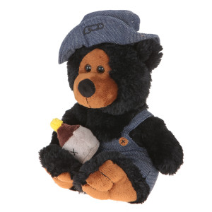 "10"" Plush Hillbilly Jar Black Bear By Giftable World®"