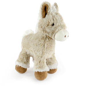 "9"" Two Tone Standing Horse with Squeaker - MetroPawlinPet Collection by GiftableWorld"