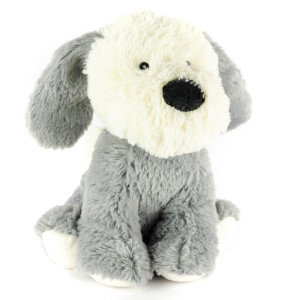 "9"" Sitting Sheep Dog with Squeaker and Crinkle Ears - MetroPawlinPet Collection by GiftableWorld"