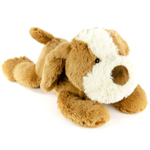 "9"" Laying Terrier with Squeaker and Crinkle Ears - MetroPawlinPet Collection by GiftableWorld"