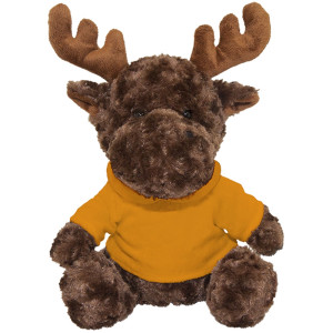 "10"" Plush Moose With Customizable Hoodie By Giftable World®"