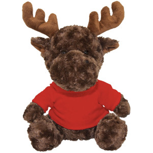 "10"" Plush Moose With Customizable T-Shirt By Giftable World®"
