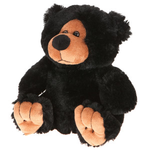 "10"" Plush Black Bear By Giftable World®"