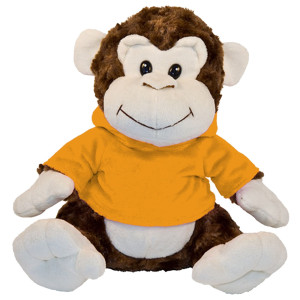"10"" Plush Monkey With Customizable Hoodie By Giftable World®"