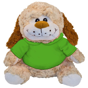 "10"" Plush Dog With Customizable Hoodie By Giftable World®"