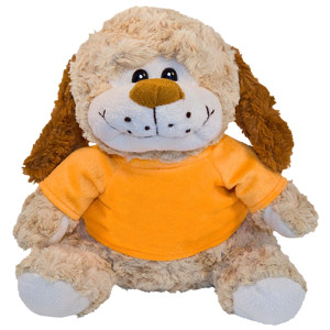"10"" Plush Dog With Customizable T-Shirt By Giftable World®"