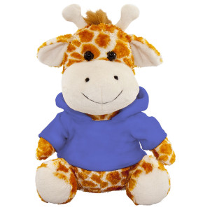 "10"" Plush Giraffe With Customizable Hoodie By Giftable World®"