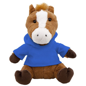 "10"" Plush Horse With Customizable Hoodie By Giftable World®"