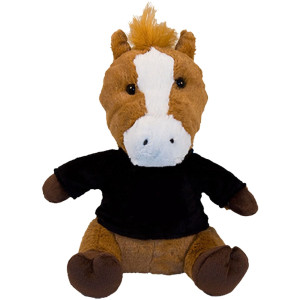"10"" Plush Horse With Customizable T-Shirt By Giftable World®"