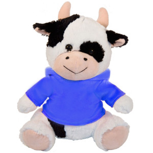 "10"" Plush Cow With Customizable Hoodie By Giftable World®"