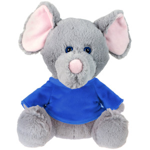 "10"" Plush Elephant With Customizable T-Shirt By Giftable World®"
