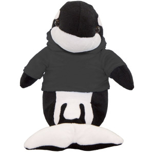 "10"" Plush Orca Whale With Customizable Hoodie By Giftable World®"