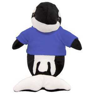 "10"" Plush Orca Whale With Customizable T-Shirt By Giftable World®"
