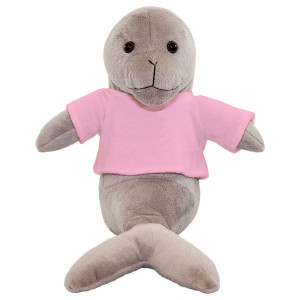 "10"" Plush Seal With Customizable T-Shirt By Giftable World®"