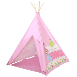 Ballerina Teepee With 4 Poles Made Of 100% Cotton By Giftable World®