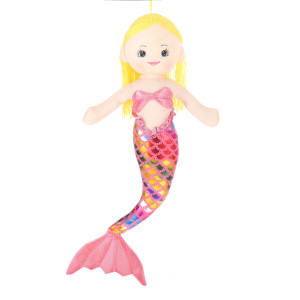 28'' Plush Gold-Haired Mermaid Doll By Giftable World®