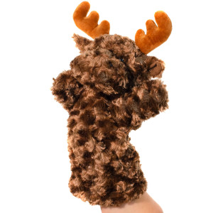 "12"" Plush Moose Hand Puppet By Giftable World®"