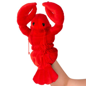 "10"" Plush Lobster Hand Puppet By Giftable World®"