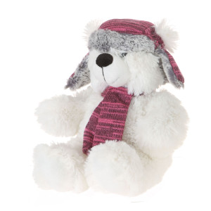 "10"" Plush White Bear With Hat By Giftable World®"