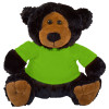 "10"" Plush Black Bear 2 With Customizable T-Shirt By Giftable World®"