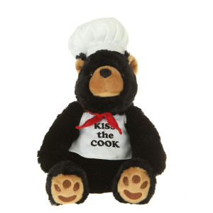 "10"" Plush Black Bear Cook By Giftable World®"