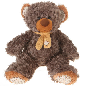 "10"" Plush Gray Brown Bear By Giftable World®"