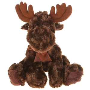"9"" Plush Moose With Ribbon By Giftable World®"