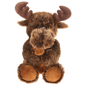 "14"" Plush Shaggy Moose With Baby By Giftable World®"