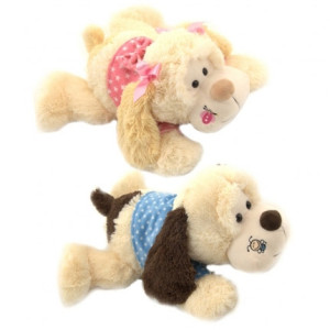 "16"" 2 Assorted Plush Lying Dog By Giftable World®"