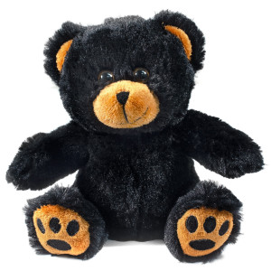 "7"" Plush Black Bear By Giftable World®"