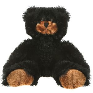"12"" Plush Bean Black Bear By Giftable World®"