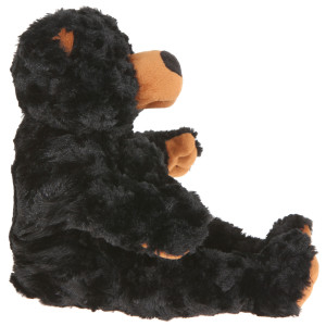 "11"" Plush Long Fur Black Bear By Giftable World®"