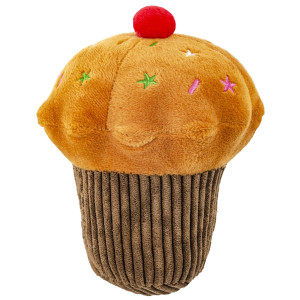 """6"""" Chocolate Cupcake with Squeaker - MetroPawlinPet Collection by GiftableWorld"""