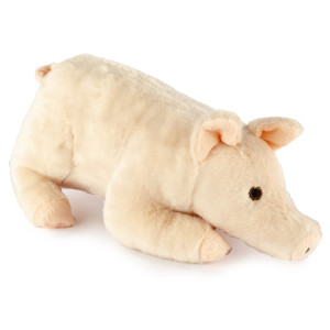 "9"" Laying Pig with Squeaker and Crinkle Ears - MetroPawlinPet Collection by GiftableWorld"
