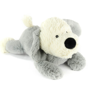 "9"" Laying Sheep Dog with Squeaker and Crinkle Ears - MetroPawlinPet Collection by GiftableWorld"
