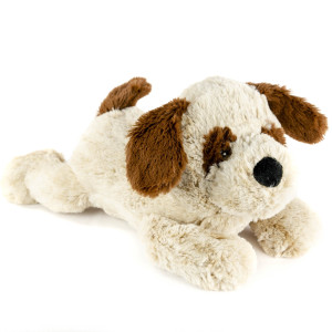 "9"" Laying St. Bernard with Squeaker and Crinkle Ears - MetroPawlinPet Collection by GiftableWorld"