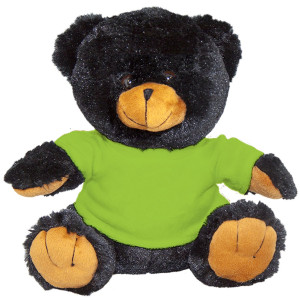 "10"" Plush Black Bear With Customizable T-Shirt By Giftable World®"