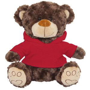 "10"" Plush Brown Bear With Customizable Hoodie By Giftable World®"