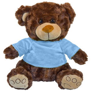 "10"" Plush Brown Bear With Customizable T-Shirt By Giftable World®"