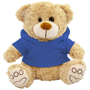 """10"""" Plush Beige Bear With Customizable Hoodie By Giftable World®"""
