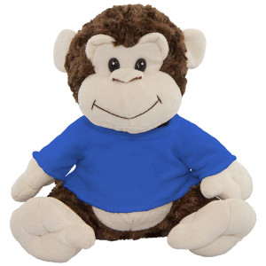 "10"" Plush Monkey With Customizable T-shirt By Giftable World®"