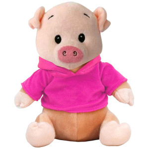 "10"" Plush Pig With Customizable Hoodie By Giftable World®"
